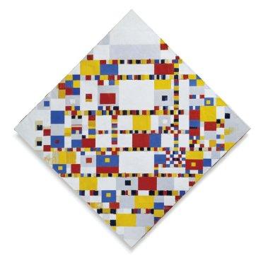 """Mondrian, Piet. """"Victory Boogie Woogie (Unfinished), 1944, Gemeentemuseum, The Hague"""